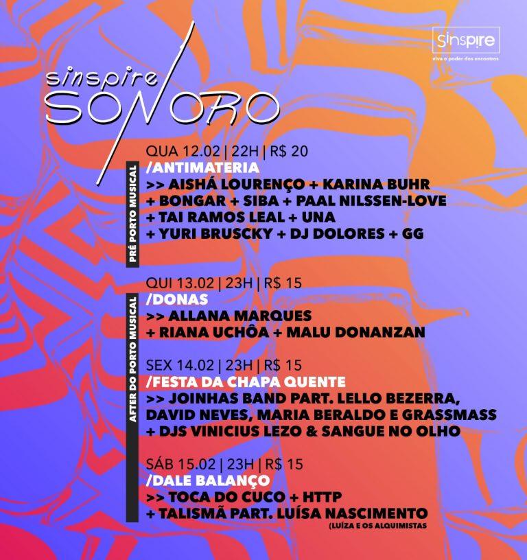 Sinspire Sonoro reúne grandes nomes da cena musical em sua primeira edição no Recife