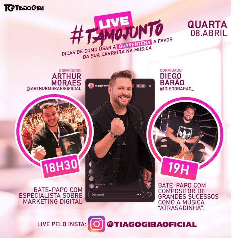 Tiago Giba entra na onda das lives e promove dois encontro semanais na web