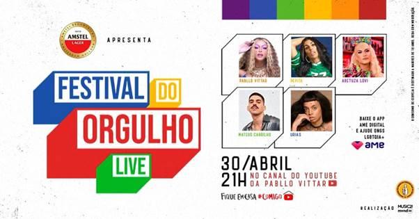 Live – Festival do Orgulho com Pabllo Vittar e convidados