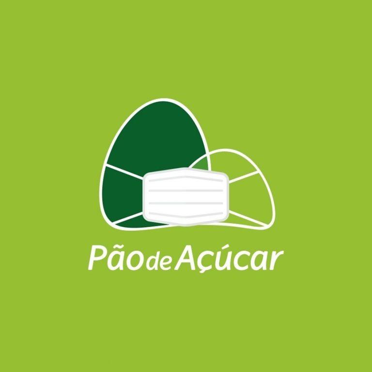 Pão de Açúcar adere a movimento de conscientização e 'veste' máscara facial em seu logotipo