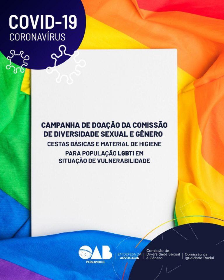 OAB Lança Campanha de Arrecadação de Alimentos Para a População LGBT