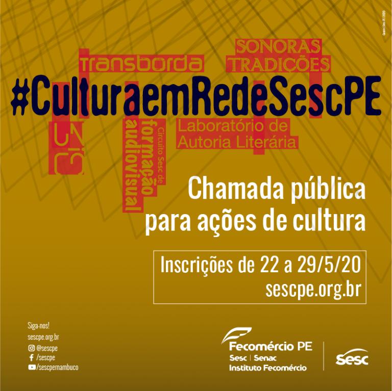 Sesc abre chamada pública para ações de cultura e contratação para acessibilidade com investimento total de R$ 461 mil