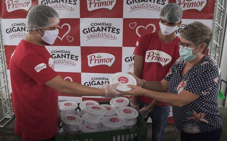 Primor transforma comidas gigantes em ação solidária e doará cerca de 700 quilos de alimentos a instituições em Caruaru