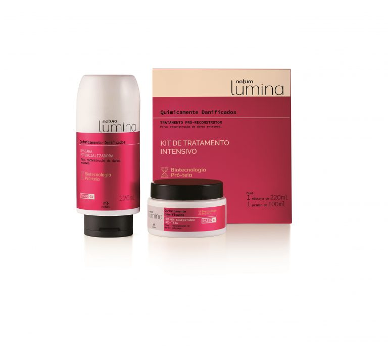 Natura Lumina lança tratamento Pró-Reconstrutor para cabelos quimicamente danificados