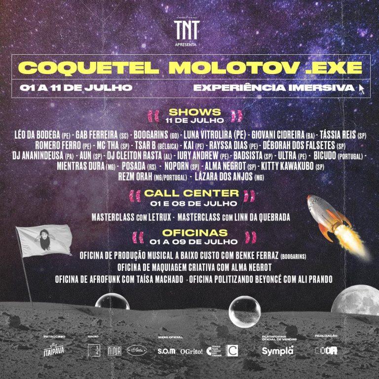 Coquetel Molotov.exe anuncia programação completa e convida o público a compartilhar novas experiências em um festival online