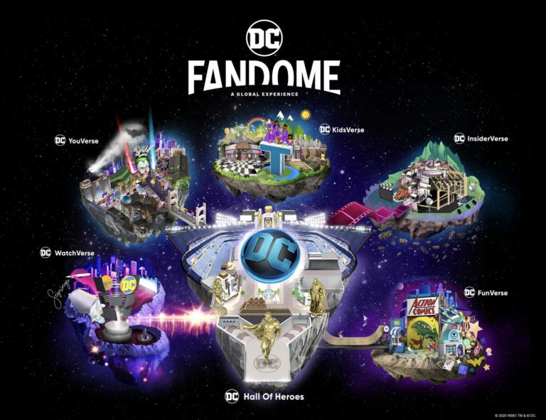 Bem-vindo ao DC FanDome! Uma mega experiência virtual e imersiva de 24 horas para fãs que dará vida ao universo da DC