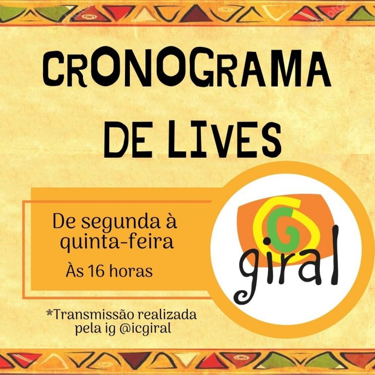 Giral promove semana de lives: segunda começa debatendo o racismo