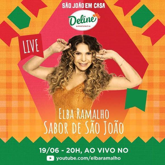 Elba Ramalho apresenta live de São João nesta sexta-feira