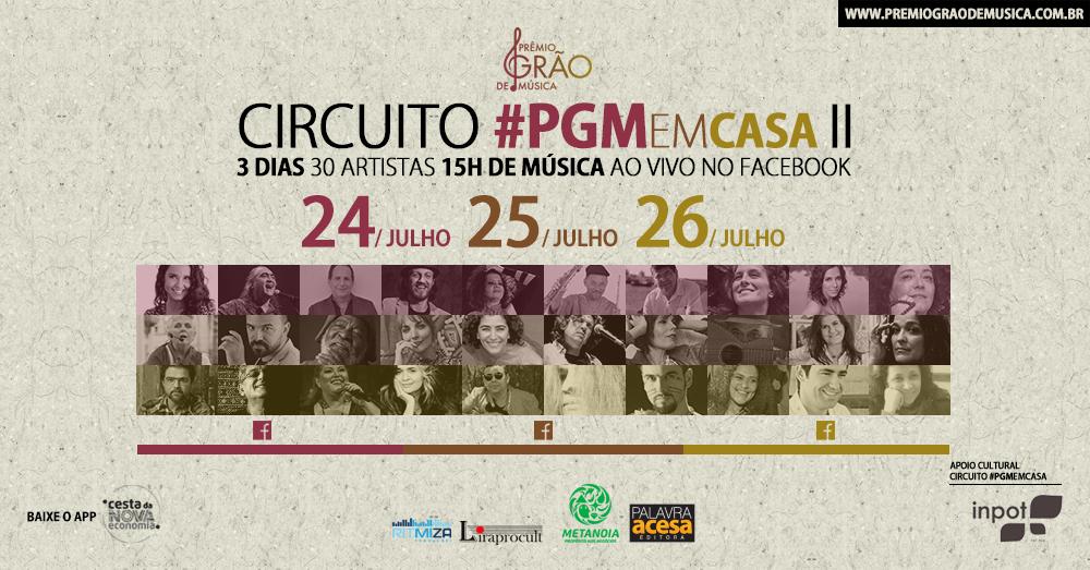 Prêmio Grão de Música traz 30 shows online!
