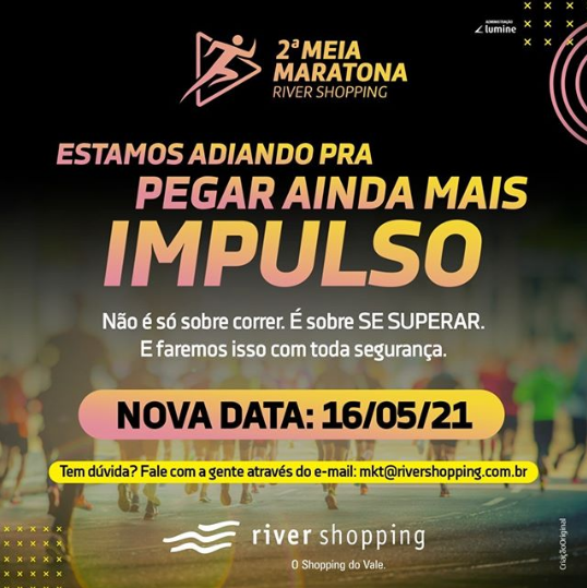 2ª Meia Maratona River Shopping ganha nova data
