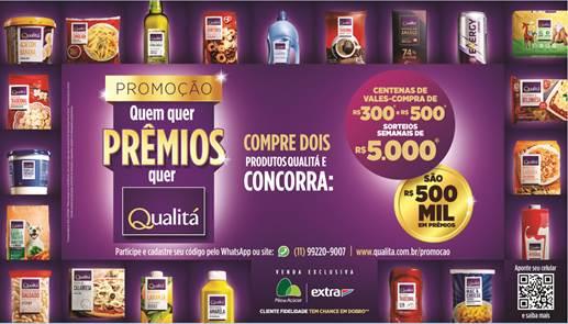 Qualitá distribui R$ 500 mil em prêmios durante promoção inédita