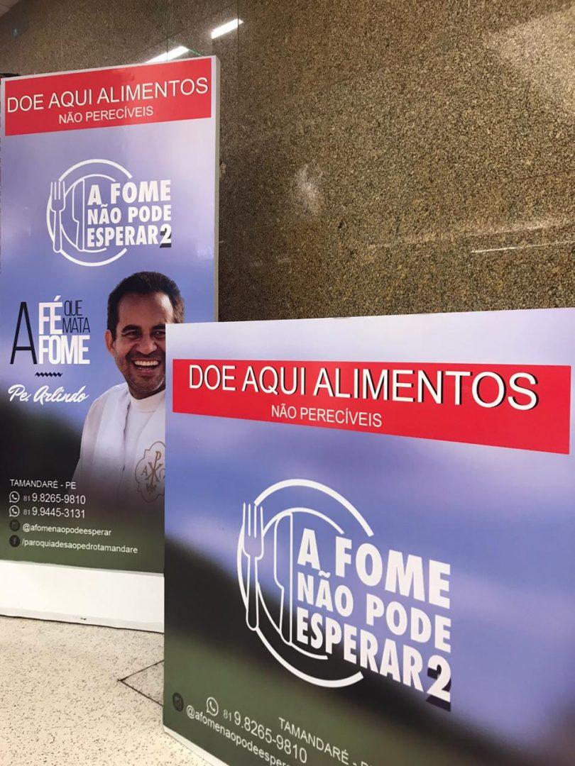 """Plaza Shopping abraça campanha """"A Fome Não Pode Esperar"""" do Padre Arlindo, de Tamandaré-PE"""