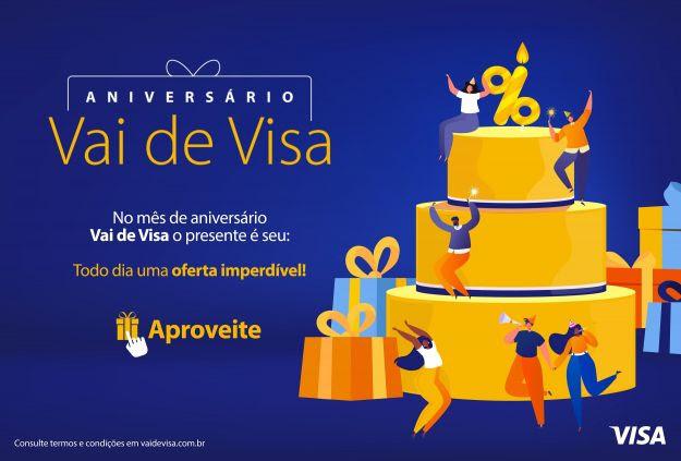 Vai de Visa comemora aniversário com ofertas exclusivas