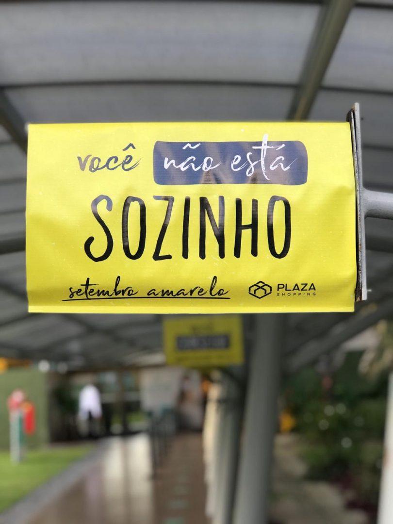 Plaza Shopping adere à campanha do Setembro Amarelo