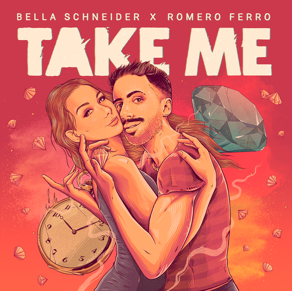 """Bella Schneider lança """"Take Me"""", em parceria com Romero Ferro, uma canção apaixonante e sensual"""