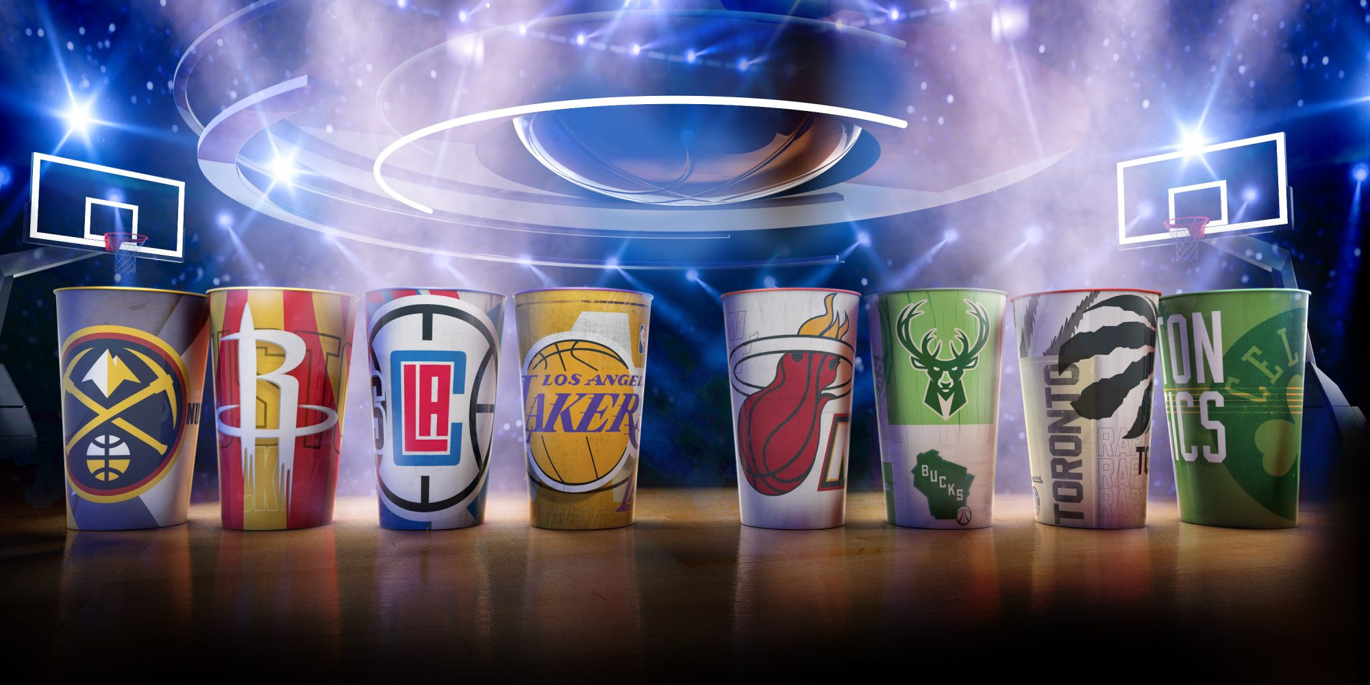 NBA e Cinemark anunciam parceria e lançam balde-bola de pipoca e coleção exclusiva de copos