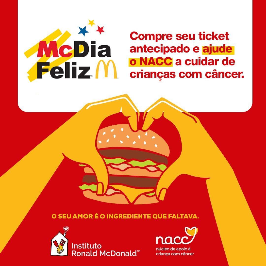 NACC é mais uma vez escolhido para o McDia Feliz