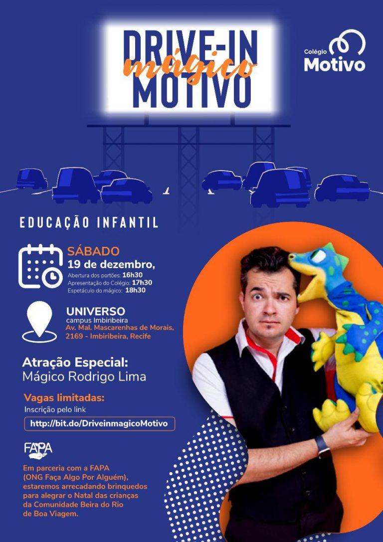 Colégio Motivo realiza drive-in solidário de Natal