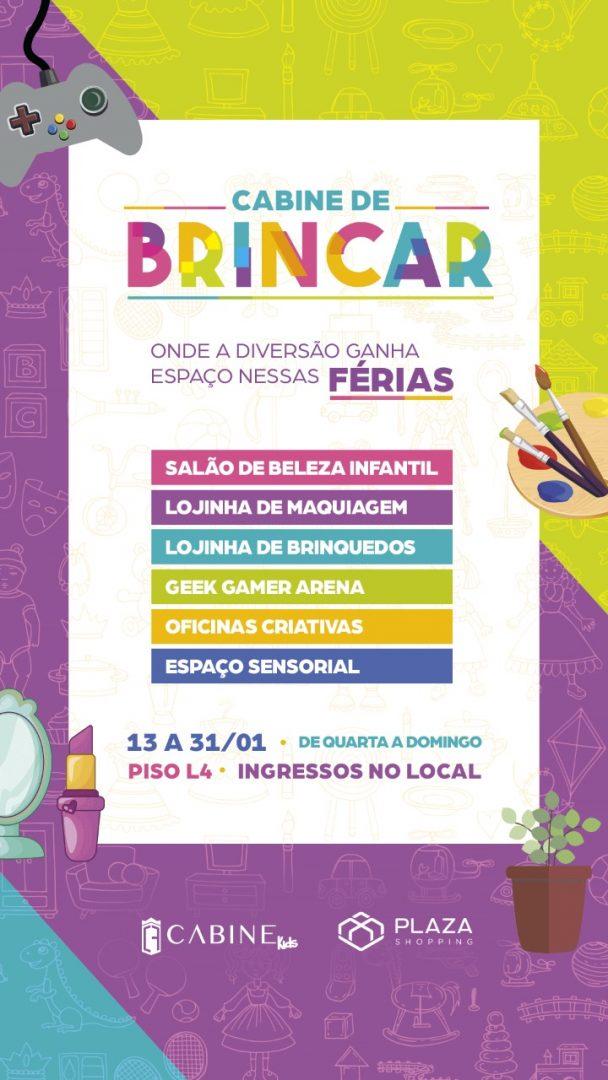Cabine de Brincar é atração do Plaza Shopping para a criançada em janeiro