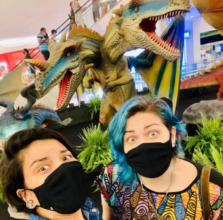 Dragões animatrônicos chegam ao RioMar