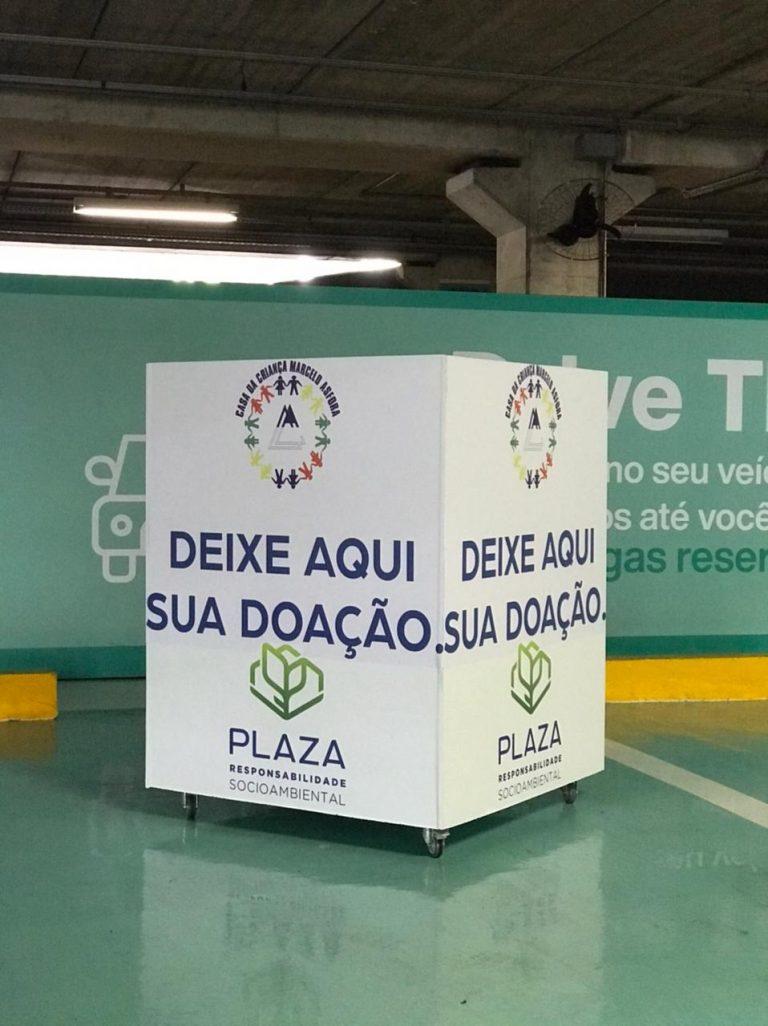 Drive thru do Plaza Shopping vira ponto de coleta para doações de alimentos para a Casa da Criança Marcelo Asfora