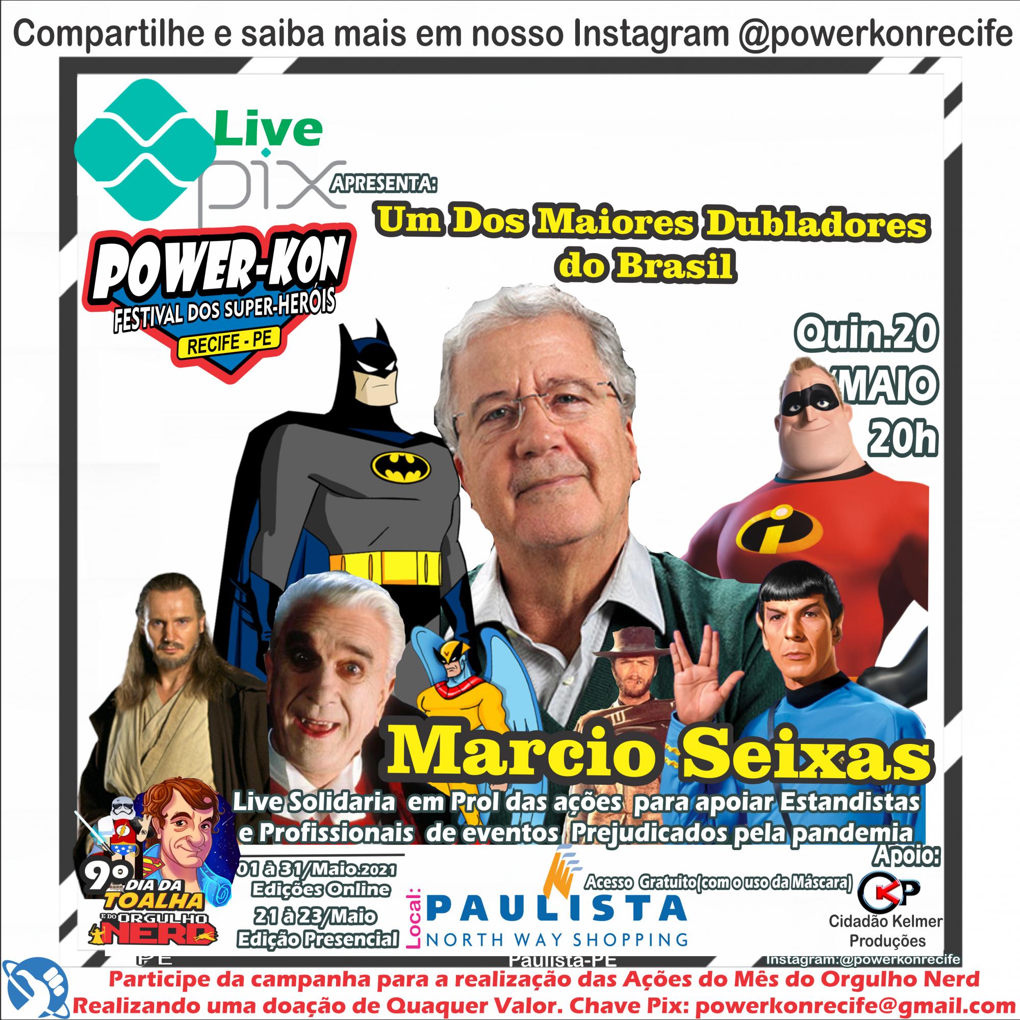 Dublador do Batman fará Live Solidária para Pernambuco em prol dos profissionais de eventos e comerciantes Geeks nesta Quinta(20)