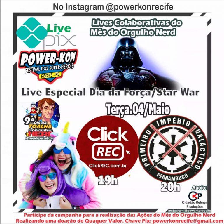 9ª Edição do Orgulho Nerd Power-Kon começa nesta Terça-Feira(04) e vai durar o mês todo