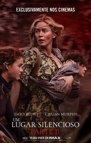 """John Krasinski e Emily Blunt falam sobre a experiência de se assistir """"Um Lugar Silencioso – Parte II"""" nos cinemas"""