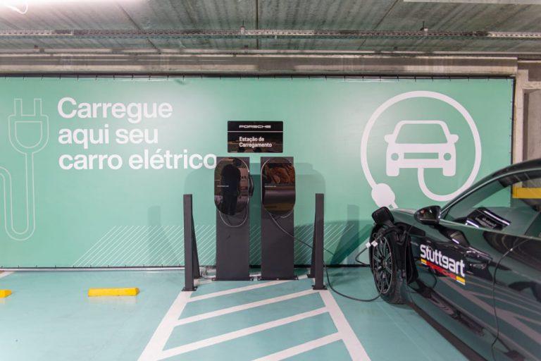 Porsche Brasil instala estações de recarga para veículos elétricos e híbridos no Plaza Shopping