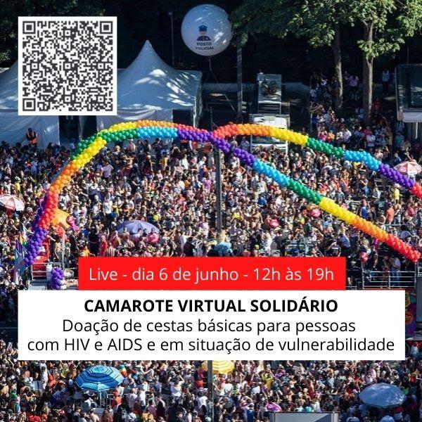 Shows, balada virtual, exposição de cartuns e arrecadação de cestas básicas marcam Camarote Virtual Solidário na parada LGBTQIA+