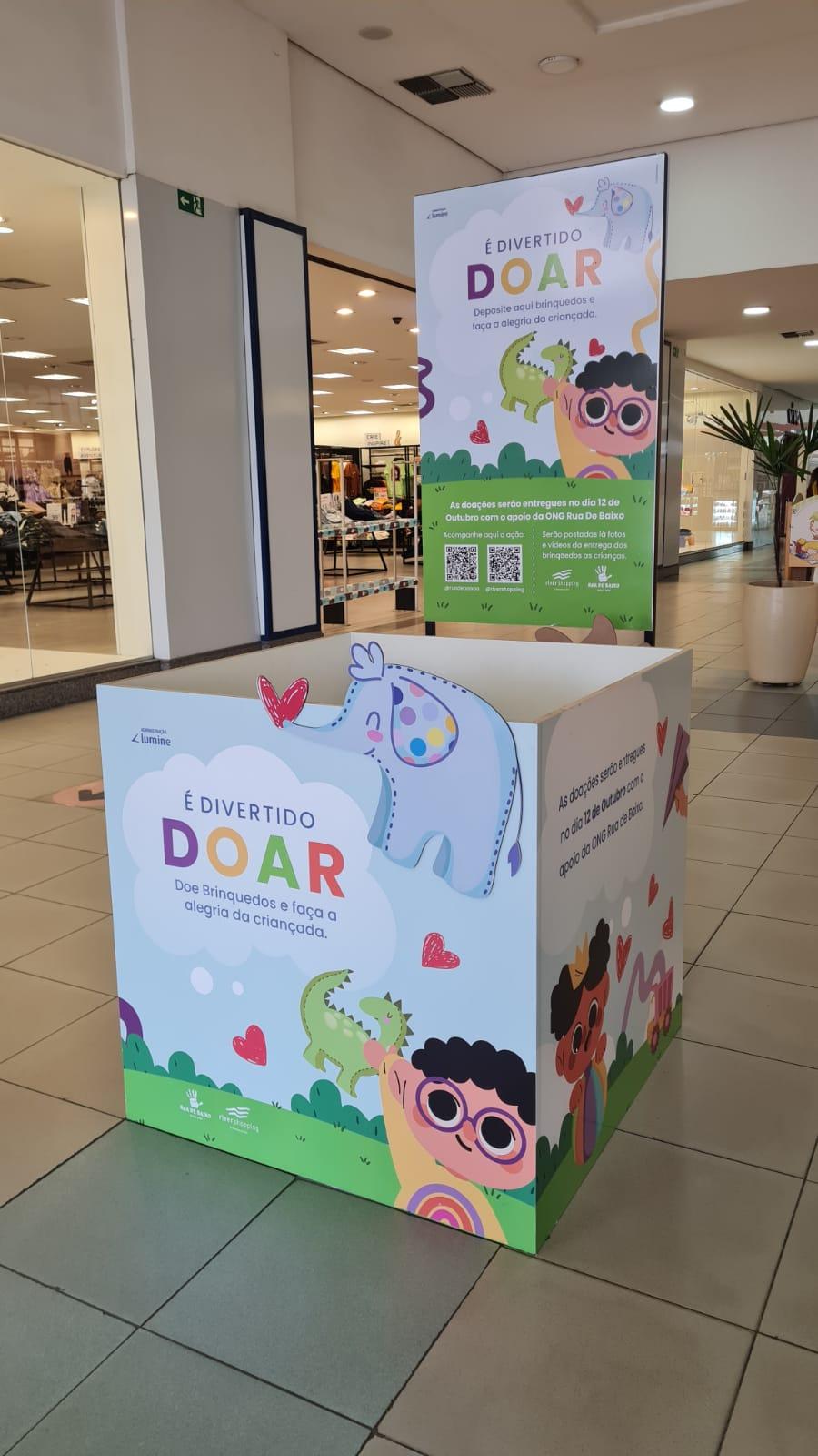 River Shopping realiza campanha de arrecadação de brinquedos para ONG Rua de Baixo